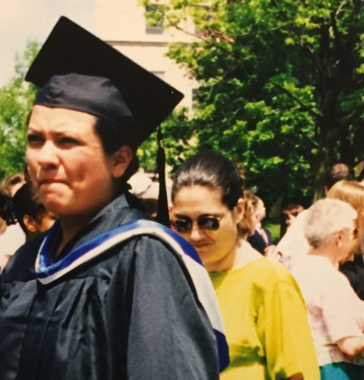 My aunt and I. Graduation 1999.