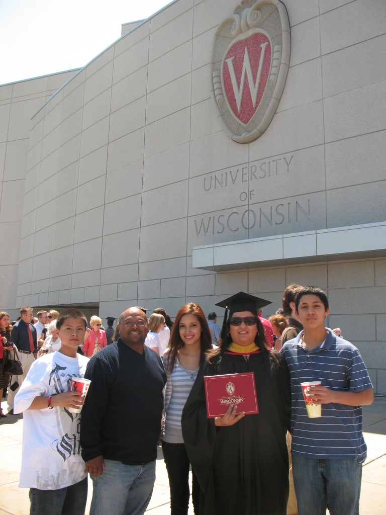My graduation from UW-Madison.